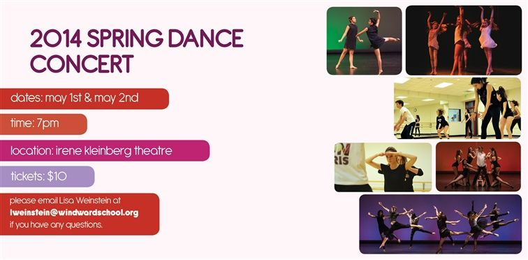 Windward Spring Dance Concert May 1 & 2