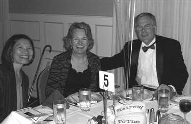 Martha Klingbeil Coates and Ted Coates at a business function.