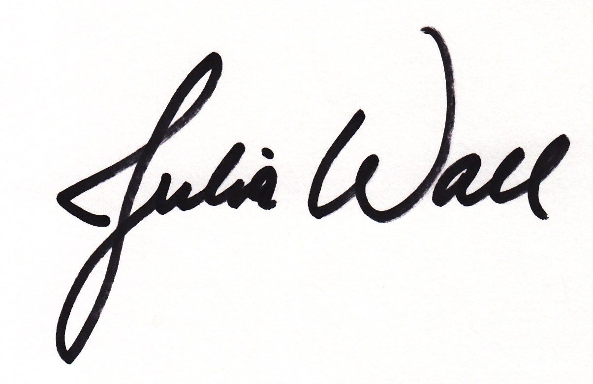 Julia Wall Signature